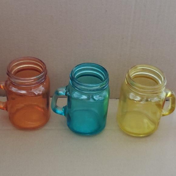 Three small jars